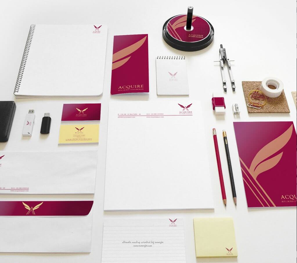 Graphic design company collateral design samples