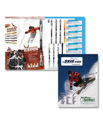 catalog design and layout for ski company