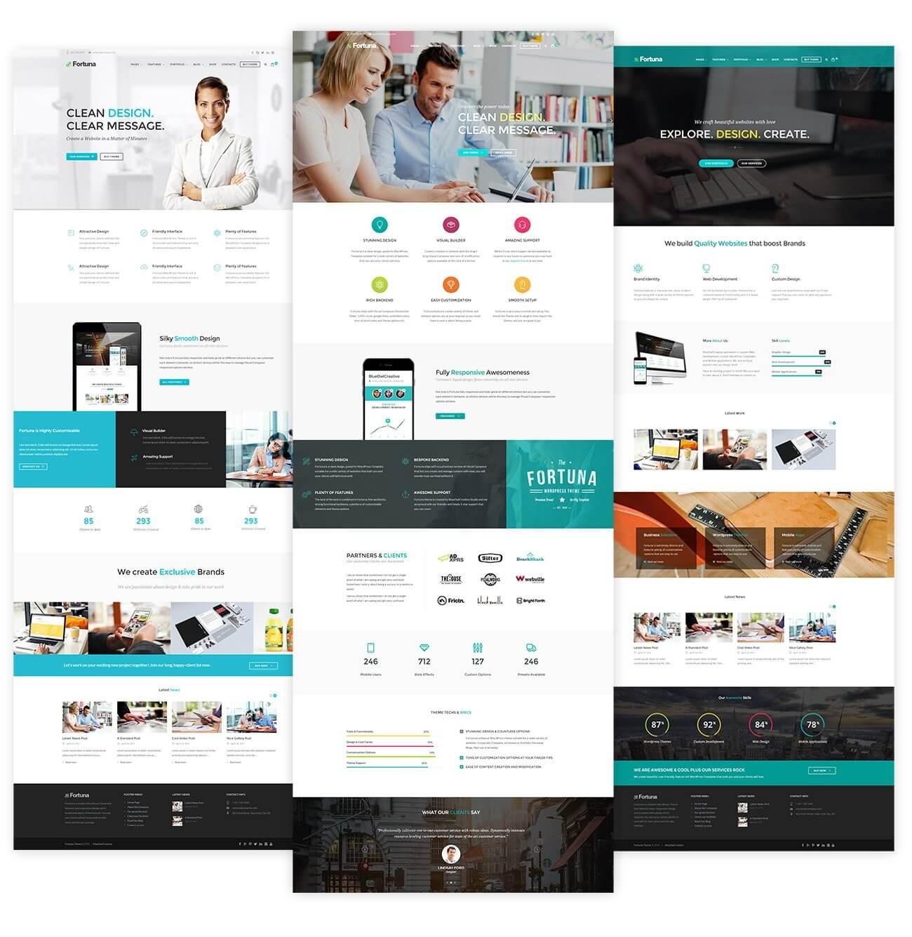 Atlanta web design company samples